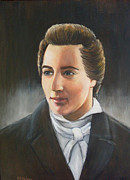 Lds Painting Originals - Joseph Smith portrait by Sharleen Kelsey