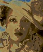 Girl Digital Art Originals - Josephine Baker Story by Byron Fli Walker