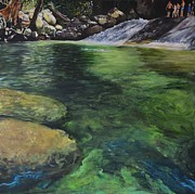 Falls Paintings - Josephine Falls by Mike Paget