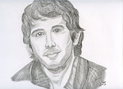 Singer Drawings - Josh Groban by Eva Ason