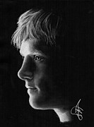 Hunger Prints - Josh Hutcherson Print by Rosalinda Markle
