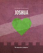 Jew Prints - Joshua Books of the Bible Series Old Testament Minimal Poster Art Number 6 Print by Design Turnpike