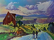 Taos Posters - Journey Along the Road to Infinity Poster by Art West
