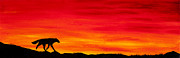 Red Sky Metal Prints - Journey Home Metal Print by Beth Davies