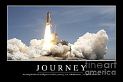 Rocket Boosters Prints - Journey Inspirational Quote Print by Stocktrek Images