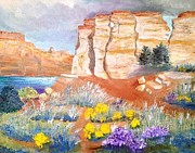 Canyons Paintings - Journey Into Canyon by Kathelen Weinberg