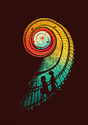 Staircase  Posters - Journey of a thousand miles Poster by Budi Satria Kwan