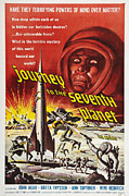 Science Fiction Drawings - Journey To The Seventh Planet by MMG Archives