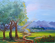 Bethel Painting Posters - Journey with God  Poster by Patricia Kimsey Bollinger