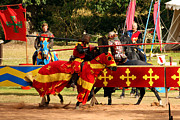 Knights Posters - Jousting Poster by Terri  Waters