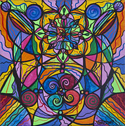 Vibrational Frequency Paintings - Jovial Optimism by Teal Eye  Print Store