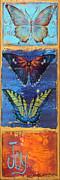 Joy Butterflies Print by Jean PLout