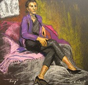 Color Purple Pastels Posters - Joy Poster by Katrina West
