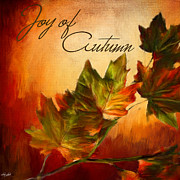Autumn Greeting Cards Prints - Joy Of Autumn Print by Lourry Legarde
