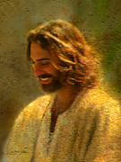 Smiling Jesus Painting Posters - Joy of the Lord Poster by Greg Olsen