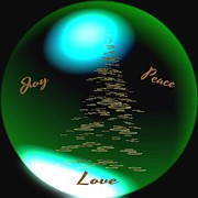 Gail Matthews Prints - Joy Peace Love Print by Gail Matthews
