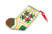 Handcrafted Art - Joy Stocking by Karin Hildebrand Lau