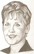 Joyce Meyer Drawing Print by Robert Crandall