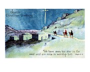 Joyous Paintings - Joyous Christmas Greetings Wise Men by Olde Time  Mercantile