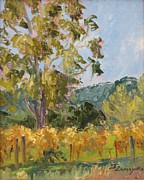 Viticulture Painting Prints - Joys Backyard         Sonoma Print by Inka Zamoyska