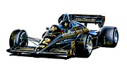 Motorsports Framed Prints - JPS Lotus F-1 Car Framed Print by David Kyte