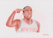 Blake Drawings - J.R Smith by Toni Jaso