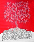 Gond Tribal Art Paintings - Js 107 by Japani Shyam