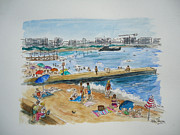 South Of France Mixed Media - Juan Les Pins by Helen J Pearson