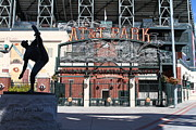 Baseball Stadiums Framed Prints - Juan Marichal at San Francisco ATT Park . 7D7640 Framed Print by Wingsdomain Art and Photography