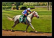 Juan Sanchez On Horse Sammy V  Print by Blake Richards