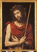 1579 Framed Prints - Juanes, Juan De 1523-1579. Ecce Homo Framed Print by Everett