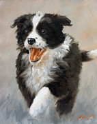 Dog Art Paintings - Jubilant spirit by John Silver