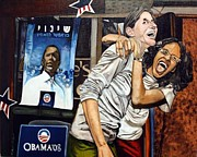 Obama Paintings - Jubilation series - India by Michael Mahue Moore