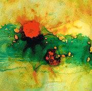 Spa Wall Decor Prints - Jubilee - Abstract Art By Sharon Cummings Print by Sharon Cummings