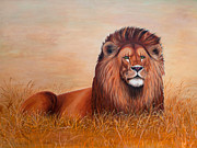 Lion Tapestries - Textiles Prints - Judah Print by Blanch Paulin
