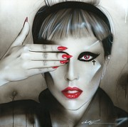 Lady Gaga Painting Prints - Judas Iscariot Print by Christian Chapman Art