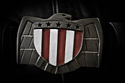 Buckle Posters - Judge Dredd Belt Buckle Poster by David Doyle