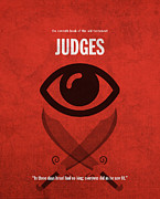 Bible Mixed Media - Judges Books of the Bible Series Old Testament Minimal Poster Art Number 7 by Design Turnpike