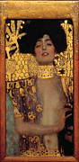 Vintage Painter Framed Prints - Judith and the Head of Holofernes - Judith I Framed Print by Gustav Klimt