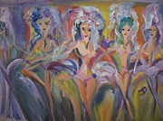 Applause Paintings - Juditte and her beauties by Judith Desrosiers