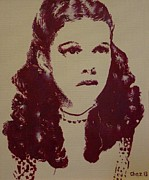 Shadow Art Painting Originals - Judy Garland by Cherise Foster