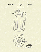 Container Drawings Prints - Jug 1932 Patent Art Print by Prior Art Design