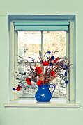 Jug Of Flowers Print by Tom Gowanlock