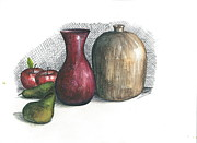 Jim  Romeo  - Jug Vase and Fruit