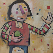 Humor Paintings - Juggler With One Ball by Tim Nyberg