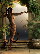 Cheetah Digital Art - Juguar Girl by Kaylee Mason