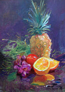 Interior Still Life Paintings - Juicy Fruit by John  Reilly