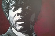 Samuel L Jackson Framed Prints - Jules Framed Print by Davide Farina