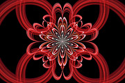 Fractal Designs Prints - Julian Rings Print by Sandy Keeton