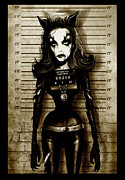 Print Card Framed Prints - Julie Newmar Framed Print by Screaming Demons